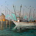 Gulf Shrimpers by Robert Clark