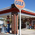 Gulf Station Sign by Roger Potts