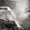 Gullfoss Iceland In Black And White by For Ninety One Days