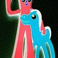 Gumby And Pokey B F F Negative by Rob Hans