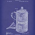 Gunpowder Can 1890 Patent Art Blue by Prior Art Design