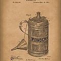 Gunpowder Can 1890 Patent Art Brown by Prior Art Design