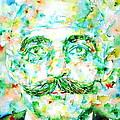 Gurdjieff- Watercolor Portrait by Fabrizio Cassetta