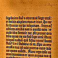 Gutenberg Bible Leaf 5a- 1450-55 by Glenn Bautista