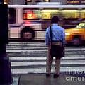 Crossing The Street - Traffic by Miriam Danar