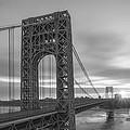 Gw Bridge Le Wide Crop Bw by Michael Ver Sprill