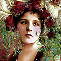 Gypsy Girl Of Autumn Vintage by Isabella Howard
