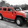 Red Hummer H2 Series  by Carlos Diaz