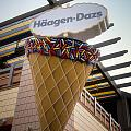 Haagen Dazs Ice Cream Signage Downtown Disneyland 01 by Thomas Woolworth