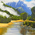 Haast River New Zealand by Pamela  Meredith