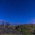 Hadrians Wall Near Walltown At Night by David Head