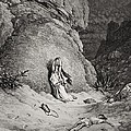 Hagar And Ishmael In The Desert by Gustave Dore