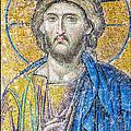 Hagia Sofia Jesus Mosaic by Antony McAulay