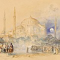 Hagia Sofia by Joseph Mallord William Turner