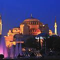 Hagia Sophia At Night Istanbul Turkey  by Ivan Pendjakov