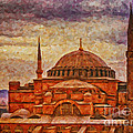 Hagia Sophia Digital Painting by Antony McAulay
