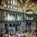 Hagia Sophia Interior by Joan Carroll