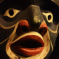 Haida Carved Wooden Mask 5 by Bob Christopher