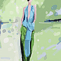 Haider Ackermann Fashion Illustration Art Print by Beverly Brown Prints