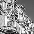 Haight Street Windows Bw by Jerry Fornarotto