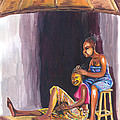 Hair Dresser In Rwanda by Emmanuel Baliyanga