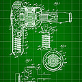 Hair Dryer Patent 1929 - Green by Stephen Younts