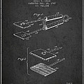 Hair Straightener Patent From 1909 - Charcoal by Aged Pixel
