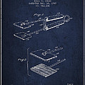 Hair Straightener Patent From 1909 - Navy Blue by Aged Pixel