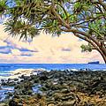 Hala Trees At Ka'anae Point by Dominic Piperata