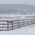 Hale Farm At Winter by Joshua Clark