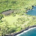 Aerial View Hale O Pi'ilani Heiau Honomaele Hana Maui Hawaii  by Sharon Mau