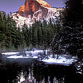 Half Dome Reflection Yosemite National Park California by Dave Welling