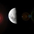 Half Moon Lens Flare by Darren Burton