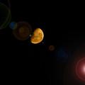 Half Moon Yellow Lens Flare by Darren Burton