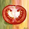 Half-tomato by Graciela Castro