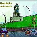 Halifax Historic Town Clock Poster by Halifax photographer John Malone