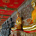 Hall Of Buddhas At Wat Suthat In Bangkok-thailand by Ruth Hager