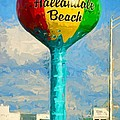 Hallandale Beach Water Tower by Les Palenik