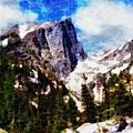 Hallett Peak In Spring by Dan Sproul