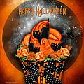 Halloween Black Cat Cupcake 1 by Carol Cavalaris