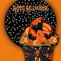 Halloween Black Cat Cupcake 2 by Carol Cavalaris