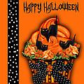 Halloween Black Cat Cupcake 3 by Carol Cavalaris