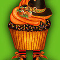 Halloween Cupcakes - Green by Carol Cavalaris
