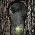 Halloween Keyhole by Amanda Elwell
