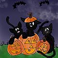 Halloween Kittens by Rachel Barrett