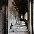 Hallway At Angkor Wat by Vivian Christopher