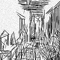 Hallway Of Distortion by Jonathan Harnisch