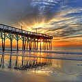 Halo Pier Sunrise  by Robbie Bischoff