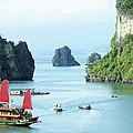 Halong Bay Sails 03 by Rick Piper Photography