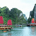 Halong Bay Sails 04 by Rick Piper Photography